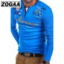 ZOGAA Tshirt Men 2019 New Fashion Long-sleeved T-shirt Striped Fold Raglan Sleeve Style Tops Tees Slim Solid Color T Shirt Men