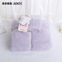 2 PCS/Set Microfiber Towel Shower Bathroom Microfibre Set Bath Towels For Adults Plain Soft Quick Drying Face Cloth Home Textile