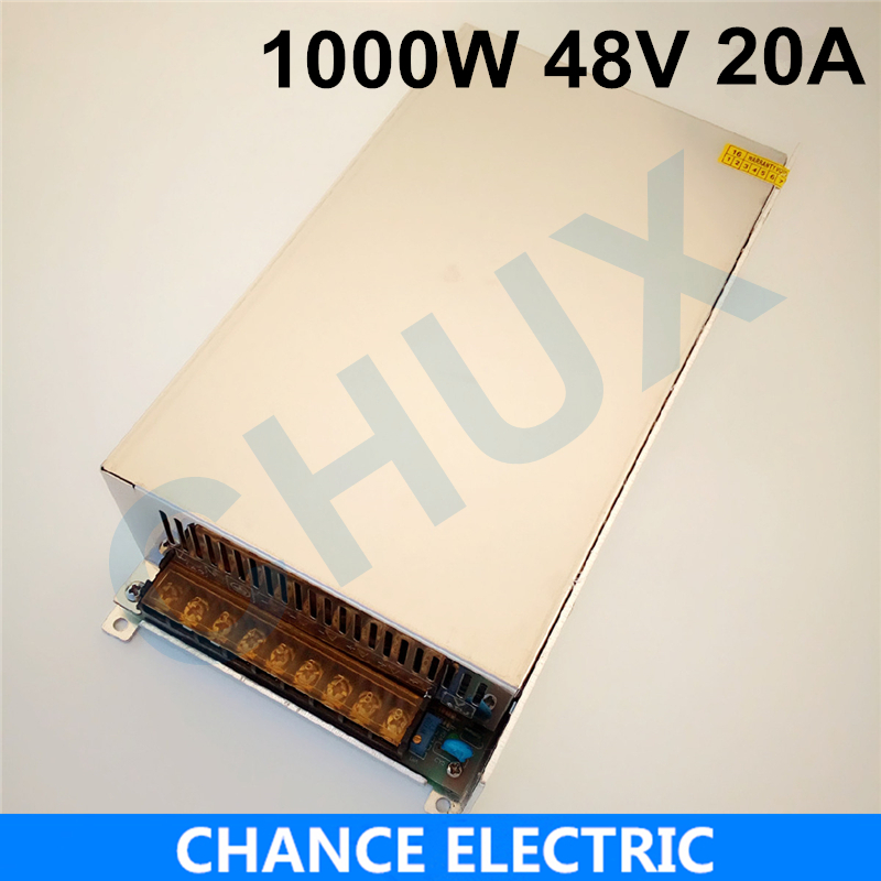 1000W 20A 48V switching power supply 48v adjustable voltage ac to dc power supply for Industrial field Free shipping free shipping 1000w 48v dc brushless