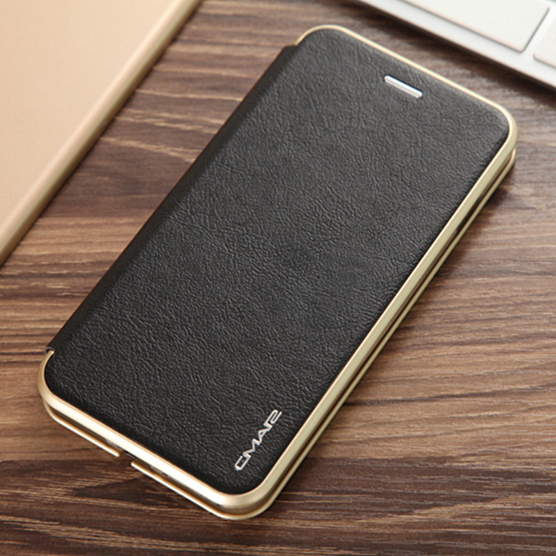 "Luxury PU Leather Flip Phone Case for iPhone 8 Plus 5.5"" Ultra Slim Thin Bag Coques Cover with Card Holder for iPhone 7 Plus"