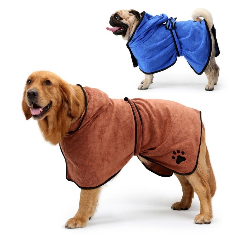 GLORIOUS KEK Dog Bathrobe XS-XL Pet Dog Bath Towel for Small Medium Large Dogs 400g Microfiber Super Absorbent Pet Drying Towel