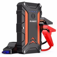 SUAOKI 1000A Peak Power Car Jump Starter CJS02 Power Bank up to 7.0L Gas or 5.0L dual USB QC 3.0 Auto Battery Booster Flashlight