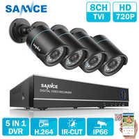 SANNCE 8CH CCTV Security System 4PCS 720P Weatherproof Night Vision IR Cut CCTV Cameras Video Surveillance Kit For RU Stock