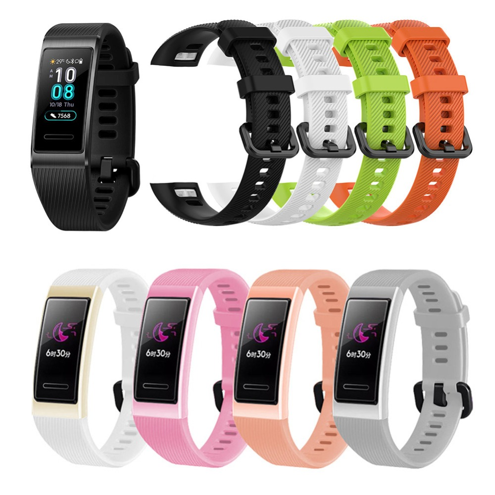 Replacement Wrist Strap For Huawei Band 3/3 Pro Silicone Watch Band Replacement Smart Bracelet Accessory For Huawei Band 3 Pro