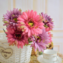 Artificial flower silk gerbera for home dining table party room wedding vase decoration fake flowers blue green purple orange