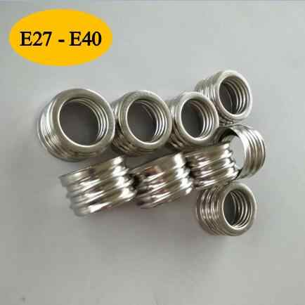 10pcs E27 To E40 Light Bulb Lamp Holder Socket Adapter Converter ( E40 Lamp Holder)