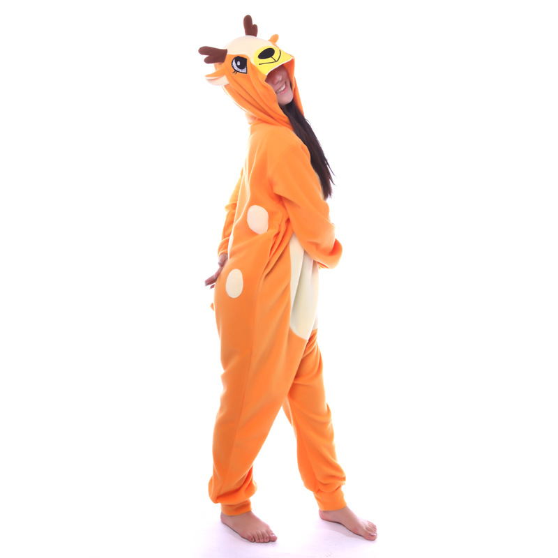 1dce9a4c05c4 Animal Deer Onesie Adult Women Men Unisex Otarriinae Cosplay Pajamas  Jumpsuits Carnival Plus Size Winter Party Halloween Costume-in Anime  Costumes from ...