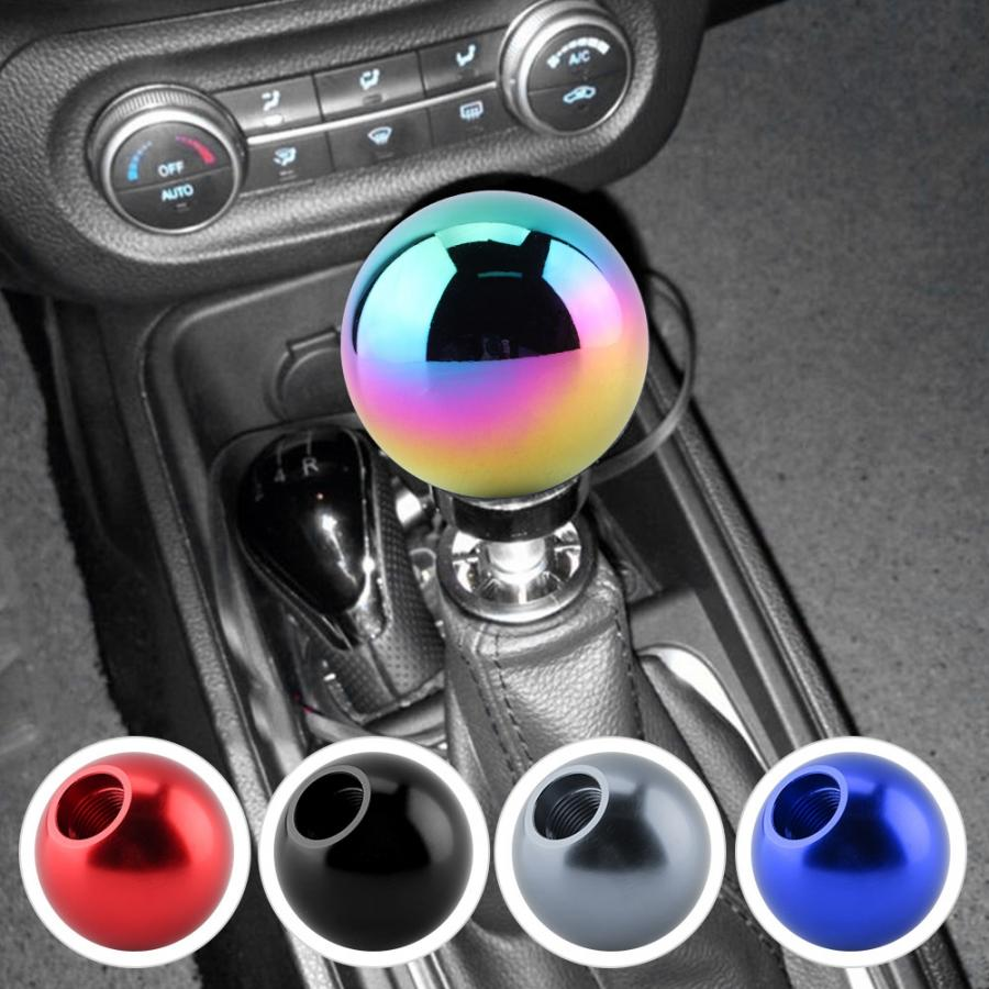 Pomo Cambio de Marchas Colored Forma de bola Redonda de la Cabeza Redonda del Cambio de Velocidades de la Perilla Manual Universal del Coche