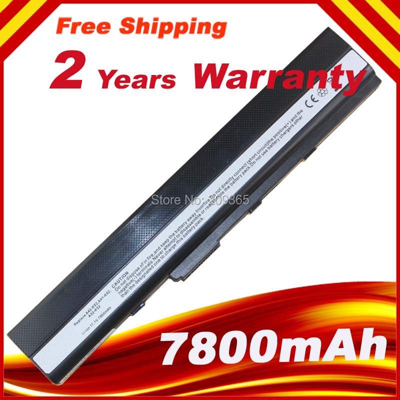 7800mAh batteri för Asus A32-K52 K52D K52DE K52DR K52EQ K52JT K52F K52J K52JB K52JC K52JE K52JK K52JK-A1 K52JR K52JU K52N