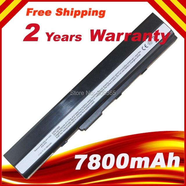 7800mAh battery for Asus a32-k52 K52D K52DE K52DR K52EQ K52JT K52F K52J K52JB K52JC K52JE K52JK K52JK-A1 K52JR  K52JU K52N