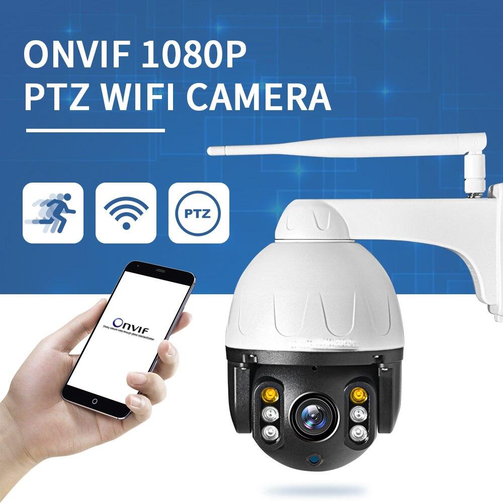 1080 P Câmera WiF 2MP Sectec Speed Dome PTZ CCTV IR Ao Ar Livre Câmera IP Sem Fio Onvif Câmera de Segurança de Vigilância À Prova D' Água C