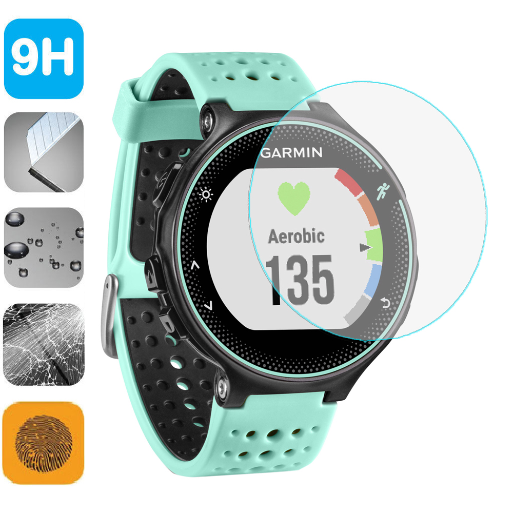 9H Film Tempered Glass Screen Protector Shield Film untuk Garmin ForeRunner 220 225 235 620 230 630