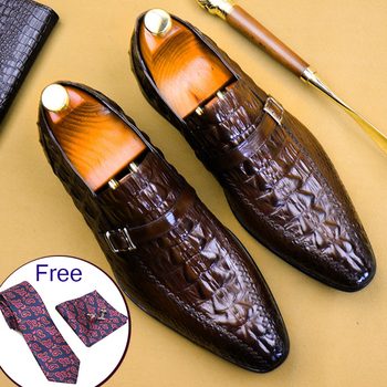 Phenkang mens formal shoes genuine leather oxford shoes for men black 2019 dress shoes wedding shoes slipon leather brogues