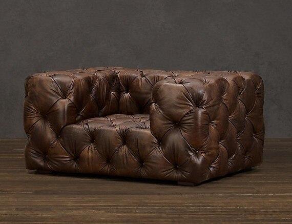 Wohnzimmer sofa/European style holz sofa/öl wachs vollleder sofa 1 ...