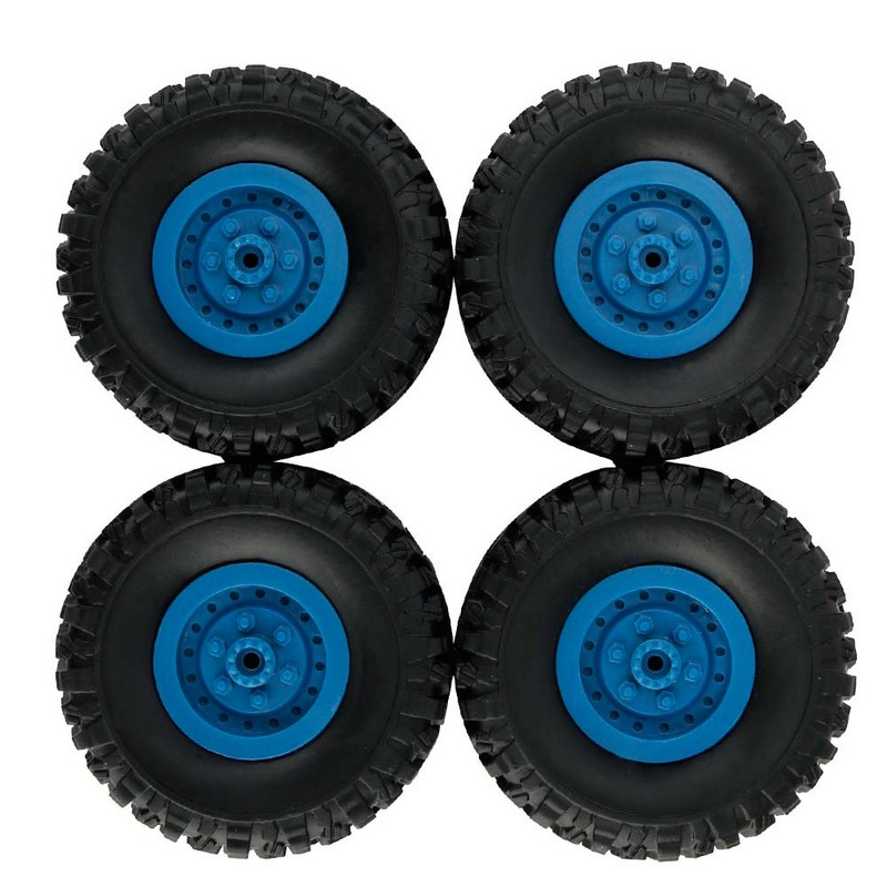 4PCS WPL RC Car DIY Military Car Tires Accessories & Parts 3D Assembled Truck DIY Model Car Tires For B-1 truck and B-24 truck