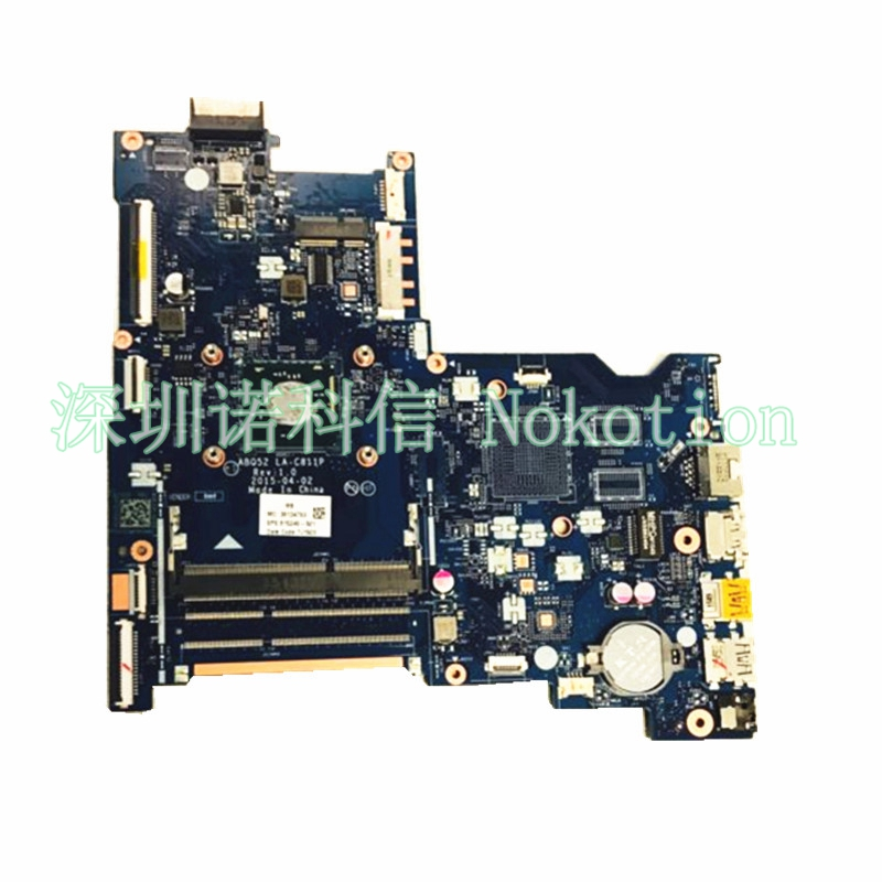NOKOTION 815248-501 Laptop Motherboard for HP 15-AC Main board ABQ52 LA-C811P full test nokotion zs051 la a996p 764262 501 764262 001 motherboard for hp 15 g series laptop main board cpu ddr3