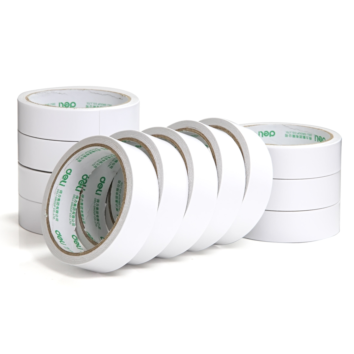 1 Pcs Deli 2.4cm*10y Super Slim Strong Adhesion White Double Sided Tape Doubles Faced Adhesive For Office Supplies 10m super strong waterproof self adhesive double sided foam tape for car trim scotch