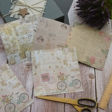 8 Sheets/lot 16.5*16.5cm  DIY Retro old wall flower Paper design Wrapping Creative Craft Background Scrapbook