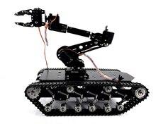 נירוסטה טנק עם 7 DOF רכוב רכב רובוט TS006, אלומיניום סגסוגת סיבוב פלטפורמה, מומנט גבוה סרוו עבור רובוט DIY
