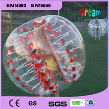 Free Shipping!Dia 1.2m Inflatable Bubble Soccer Football Ball for Children, Zorb Ball, Human Hamster Ball, Bumper Ball for Kids