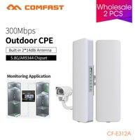 Comfast открытый охват 5 км Siganl Booster/усилители домашние 5,8 ГГц 14dBi высокого усиления Открытый Wi Fi приемник 2pcs оптовая продажа CF-E312A