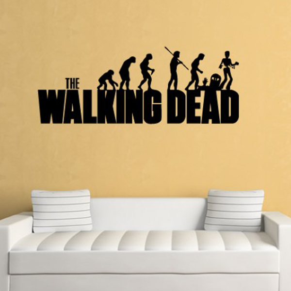 The walking dead evolution wall sticker the walking dead wall art banksy vinyl wall art wall stickers home decor 4 sizes in wall stickers from home garden