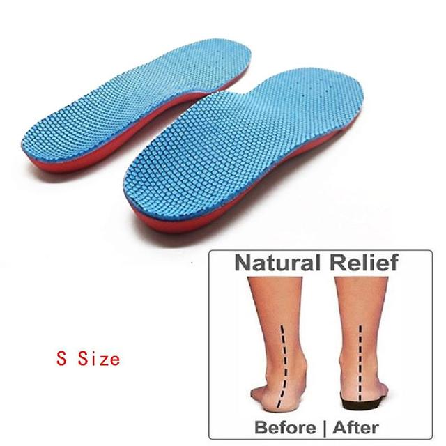 1b9605b1bf Pair of Orthotic Arch Support Foot Flatfoot Correction Foot Pain Relief  Shoe Insoles Kids Orthopedic Children