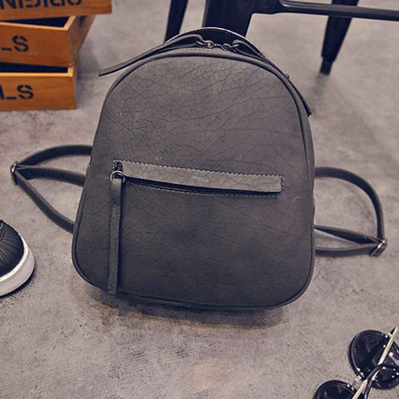 ximiu Fashion Women Leather Backpacks Schoolbags Travel Shoulder Zipper Bag Back Pack Candy Color Bag women bags for 2018