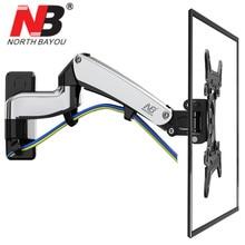 NB F300 весна газа 30-40 дюймов LED ТВ настенное крепление Держатели мониторов эргономичный крепление Макс. vesa 200*200 мм загрузки 5 ~ 10kgs черный