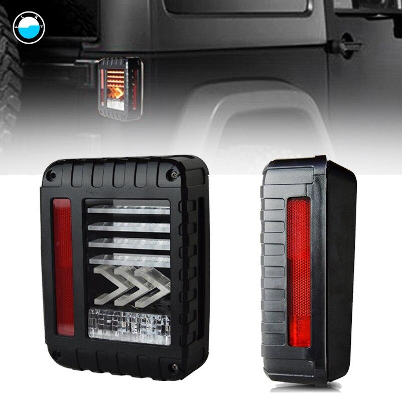 1 pair LED Tail Brake Light Assembly w/ Turn Signal & Back Up For Jeep Wrangler JK JKU Sports, Sahara, Freedom Rubicon.