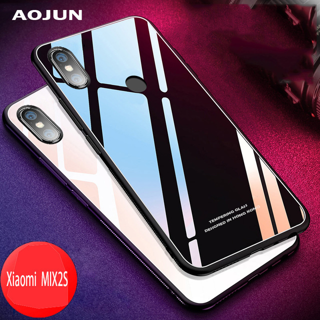 promo code 945b8 24517 US $4.99 |Xiaomi Mi MIX2S Case Protective Mobile Phone Cover Glass Cases  for Xiaomi Mi Mix 2S Xiaomi MI 8 MI 8 Tempered Glass Case-in Phone Pouch  from ...