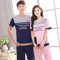 Pajamas Set Women and man short sleeve summer spring two pieces Pajamas Nightgowns cute pajamas sleepwear Casual Nightwear M-XXL