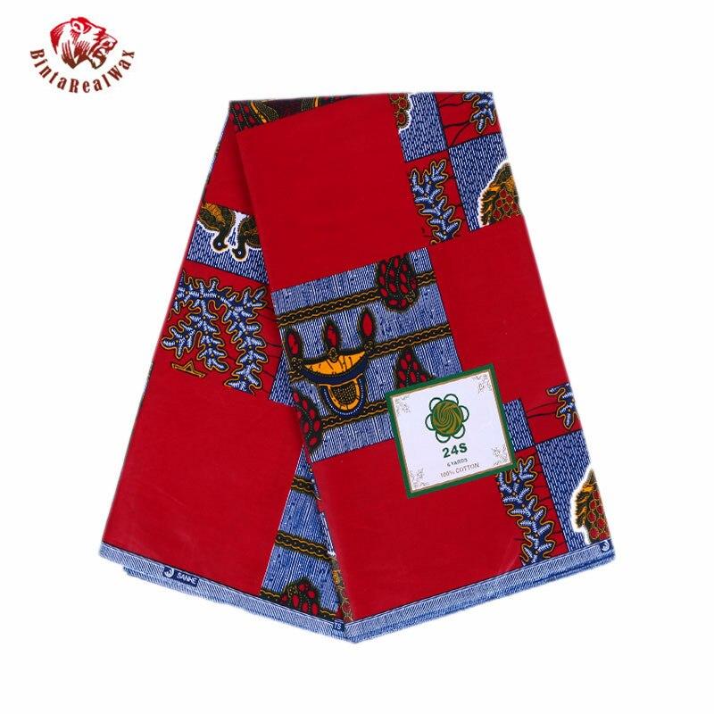 Acheter Nouveau Rouge Cire Imprimer Robe Vêtements Tissu Ankara Tissu Batik Africain Cire Tissu Imprimé Super Cire Hollandais Tissu 24FS1014 de wax print fabric fiable fournisseurs