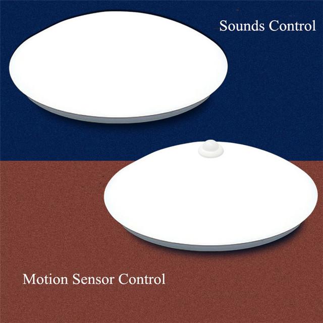 Smart Home Motion Sensor/Sounds Control LED Ceiling Lights Lamparas De Techo For Hallway Stairs Depot Kids Room Ceiling Lamps