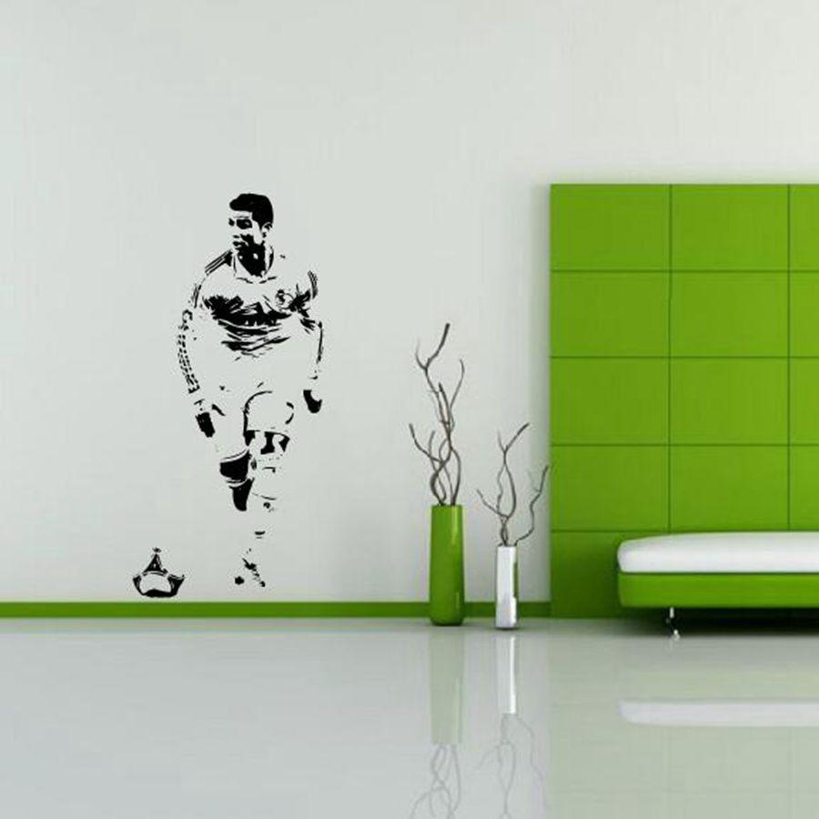 Superieur Free Shipping CRISTIANO RONALDO Wall Decal Sticker CR7 Footballer Soccer  Wall Art Decor