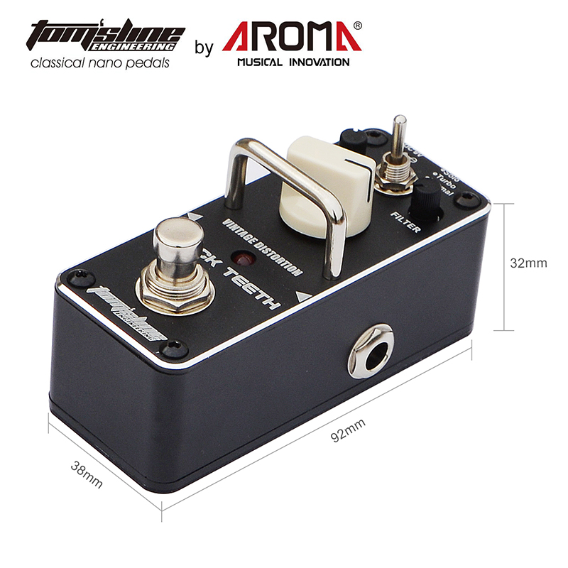 Tom'sline Guitar Effect Pedals Overdrive Distortion Plexion Bluesy Firecream Greenizer TubePusher BlackTeeth VacuumStack Dumbler