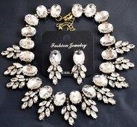 Luxury Necklaces Pendants Big Brand J Crystal Leaves Resin Vintage Choker Jewelry Chunky Bib Crew Statement