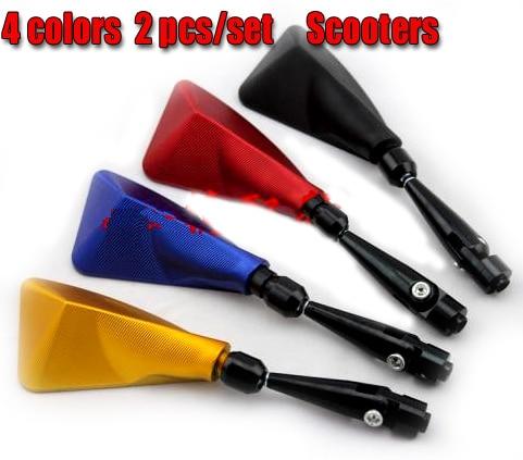 Envío gratis, 2 pcs / set Universal Rear Mirror MOTOCICLETA Scooter - Accesorios y repuestos para motocicletas