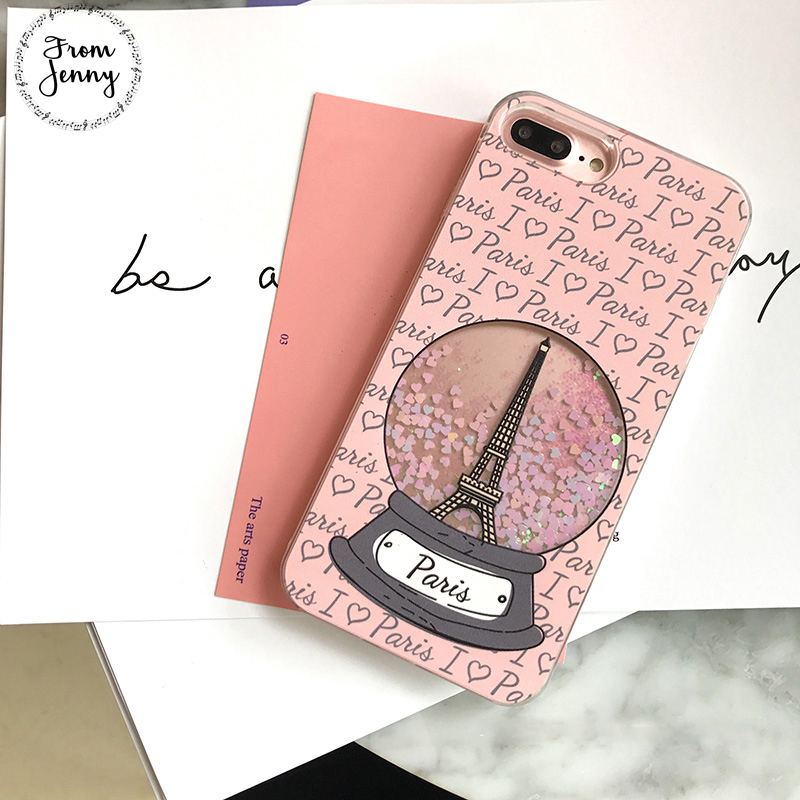[From Jenny] Inst Hot Liquid Quicksand Transparent Case for Apple iPhone6s 6 7 7plus 6s+ 6splus for girl Capas Covers for iphone