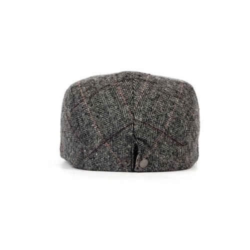 47fff873a7e ... UK Mens Flat Cap Beret herringbone Newsboy Bakerboy Hat Gatsby Peaky  Blinders