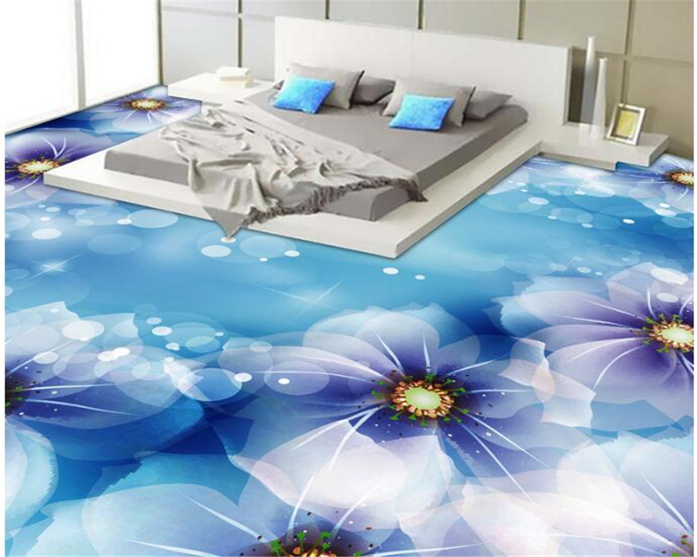 beibehang Fantasy wall paper fashion classic beautiful 3d wallpaper flower bathroom bedroom floor papel de parede