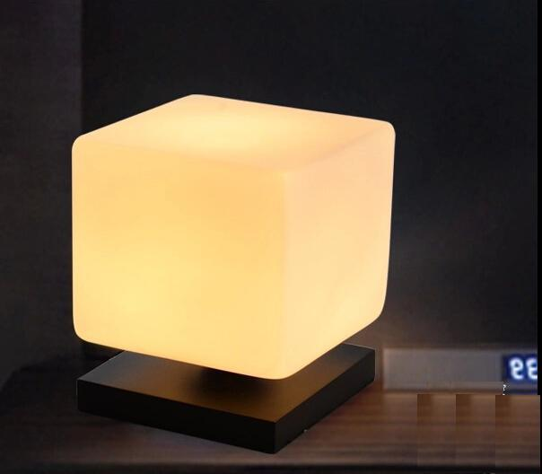 Aliexpress.com : Buy New Modern Contemporary Ice Cube Table Desk Lamp Bedroom Bedside Light ...