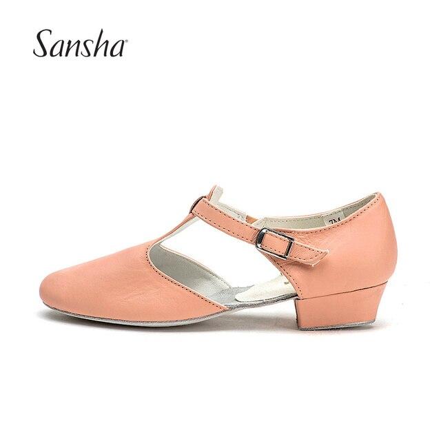 US $25.85 6% OFF|Sansha Superior Kuh Leder Lehrer Tanzen Sandale Jazz Dance Schuhe Für Frauen Mädchen TE1LCO in Sansha Superior Kuh Leder Lehrer