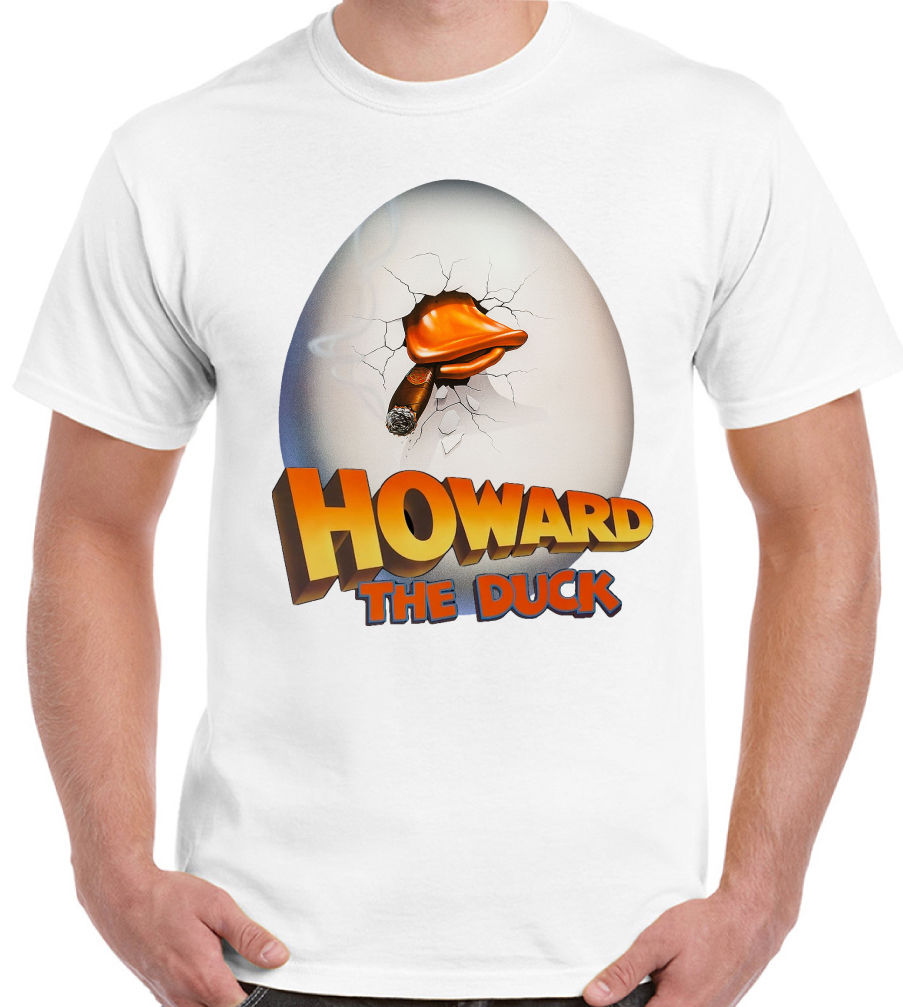 Howard The Duck Mens Retro 80s Movie T-Shirt The Guardians Of The Galaxy Film