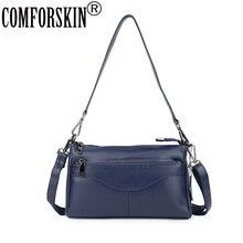 купить COMFORSKIN European and American Genuine Leather Luxurious Handbags Women Messenger Bags New Arrivals Ladies Cross-body Bag 2019 онлайн