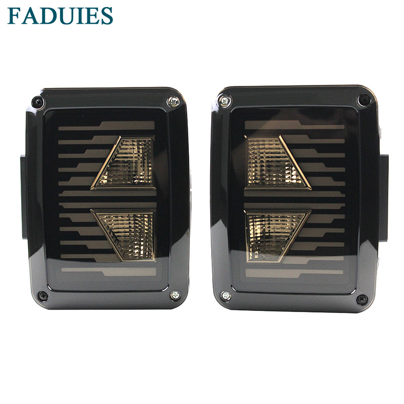 FADUIES Smoked LED Tail Lights For Jeep Wrangler Taillights For Jeep Wrangler JK JKU Sports, Sahara, Freedom Rubicon 2007 - 2016 siku внедорожник jeep wrangler с прицепом для перевозки лошадей