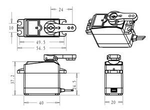Image 5 - 1X RC servo 25 кг DS3225 core или coreless цифровой сервопривод, водонепроницаемый сервопривод, цельнометаллическое снаряжение, сервопривод для автомобилей baja и радиоуправляемых автомобилей