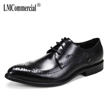 Genuine Leather mens carved real leather shoes suits business shoes men British big size cowhide men formal dress shoes casual цены онлайн