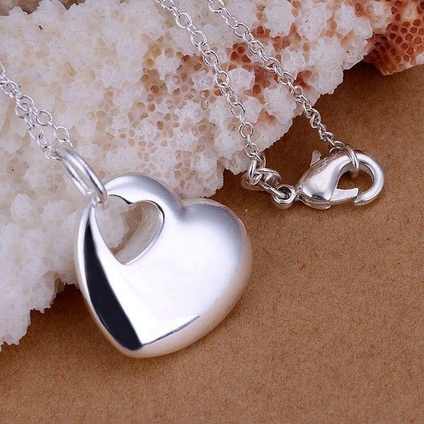 Free Shipping 925 jewelry silver plated Jewelry Pendant Fine Fashion Cute Heart