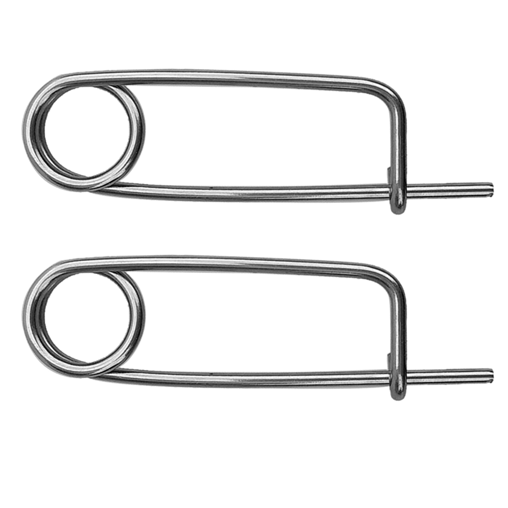2pcs/Pack Stainless Steel Safety Pin Clip Heavy Hooks for Scuba Diving Kayak Boating Fishing Drifting Accessories